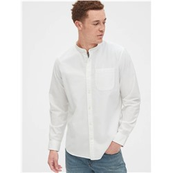 Lived-In Stretch Band-Collar Shirt in Standard Fit