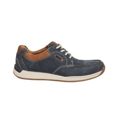 Javery Time - Wide Fit Navy Nubuck