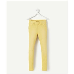 YELLOW TREGGINGS WITH FAUX HOLES