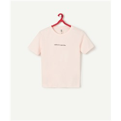 PINK T-SHIRT WITH MESSAGE
